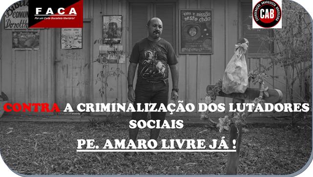 A CRIMINALIZAÇÃO CONTRA PADRE AMARO: OS PLANOS MACABROS DO LATIFÚNDIO EM MOVIMENTO NOVAMENTE NA TRANSAMAZÔNICA!